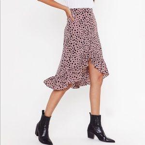 Polka Dot Midi Skirt - new with tag